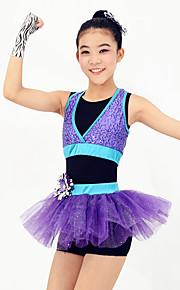 Dresses Women's / Children's Performance / Flower(s) / Sequins Ballet Sleeveless Natural Dress / Headpieces