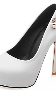 Homme-Mariage / Habillé / Soirée & Evénement-Noir / Rouge / Blanc-Talon Aiguille-A Plateau / Nouveauté-Chaussures à Talons-Similicuir