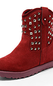 Women's Boots Spring / Fall / Winter Others Suede Party & Evening / Dress / Casual Platform Zipper Black / Yellow / Red Others
