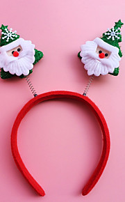 ראש סרט 2pcs מולד אבזם קישוטי חג מולד מתנת חג מולד מתנת סטודנטי חישוק (סגנון אקראי)