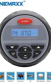4 inch Waterproof Marine Gauge Radio FM AM Audio Bluetooth Stereo for Boat ATV RZR
