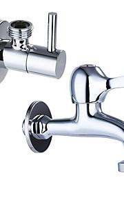 現代風 標準スパウト センターセット 爪足 with  真鍮バルブ シングルハンドルつの穴 for  クロム , 水栓