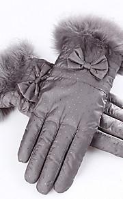 kvinners vinter ski hanske (grå - tykkere)