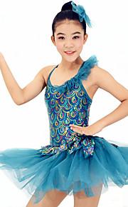 Dresses Performance Spandex /  Paillettes / Feathers /Fur / Lace / Ruffles / Sequins Ballet Sleeveless Natural Dress