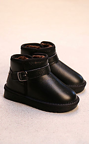 Girl's Boots Comfort Leather Casual Black Red Camel