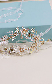 Women's Rhinestone / Tulle Headpiece-Wedding / Special Occasion / Casual Wreaths 1 Piece