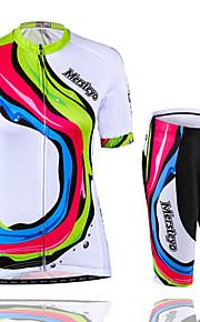 Deportes Maillot de Ciclismo con Shorts Mujer Mangas cortas BicicletaImpermeable / Transpirable / Secado rápido / Resistente a los UV /