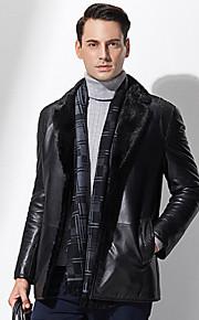 Manteau en Fourrure Hommes,Couleur Pleine Décontracté / Quotidien / Grandes Tailles simple Manches Longues Noir Autres EpaisAutomne /