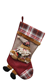 Joulukoristeet / Joululelut Lomatarvikkeet Joulupukki-asu / Hirvi / Lumiukko Tekstiili Ivory / Valkoinen / Kulta Kaikki