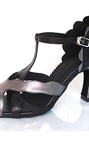 Для женщин-Дерматин-Персонализируемая(Черный) -Латина / Джаз / Сальса / Обувь для свинга