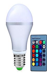 5W E14 / GU10 / B22 / E26/E27 Ampoules LED Intelligentes A60(A19) 3 LED Haute Puissance 350 lm RVBGradable / Commandée à Distance /