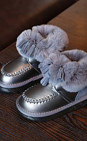 Girl's Boots Comfort Leather Casual Black Gray