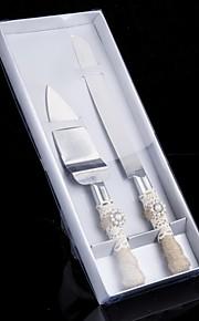 Stainless Steel Serving Sets Garden Theme Classic Theme Fairytale Theme Vintage Theme Rhinestones White Bow 2 Gift Box