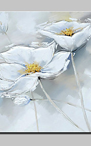手描きの 静物画 / 花柄/植物の 油彩画,Modern 1枚 キャンバス ハング塗装油絵 For ホームデコレーション