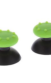 Udskiftning 3D Rocker Joystick Cap Shell Mushroom Caps til PS3 Wireless Controller + Antislip Rubber