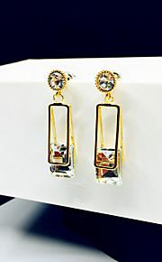 Brincos Set Gema Strass Prata Chapeada Dourado Laranja Vermelho Azul Jóias Para Casamento Festa 1 par
