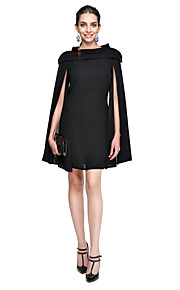 vestito ts couture® promenade del partito di cocktail-Line Jewel breve mini chiffon /