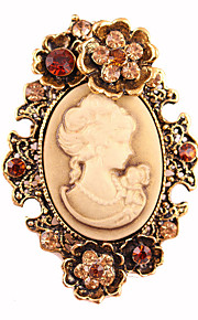 damesmode retro legering / strass broches chique pin partij / dag / casual accessoire sieraden 1pc
