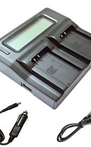 ismartdigi EL20 lcd dubbele lader met auto-oplaadkabel voor Nikon EN-EL20 j1 j2 j3 een AW1 s1 camera batterys