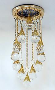 Ceiling Lights for Dining Room Small Crystal Lighting Recessed in Gold Color