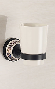 Bathroom Accessories Mirror Polished Finishing Solid Brass Material Toothbrush Holder