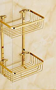 Suihkukori / Kylpyhuoneen laitteet Ti-PVD Seinään asennettu 23cm*16cm*38cm(9*6.3*14.96inch) Messinki Moderni