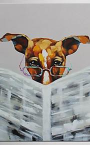 手描きの 抽象画 / 動物 油彩画,Modern / クラシック 1枚 キャンバス ハング塗装油絵 For ホームデコレーション