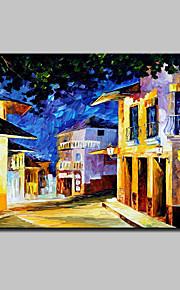 手描きの 風景 抽象的な風景画 油彩画,Modern 1枚 キャンバス ハング塗装油絵 For ホームデコレーション