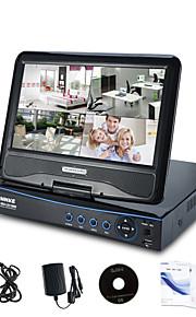 "annke® todo en uno AHD incorporado 10.1 ""lcd monitor de red 720p HD DVR NVR HVR videovigilancia cctv"