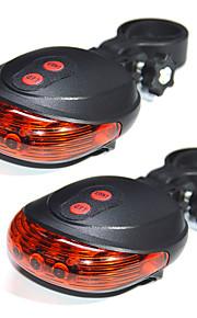 youoklight 2stk 5led 2laser cykling cykel lys 7 flashfunktion sikkerhed baglygte vandtæt laser hale advarselslampe blinker fem førte to