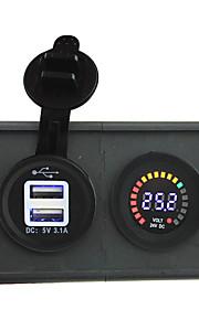 24v geleid digitale display voltmeter en 3.1a usb adapter met huisvesting houder paneel voor auto boot truck rv