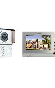 actop smart home 1v1 RFID samtaleanlæg én til én video dørklokken 7 tommer skærm 6 ir lamper kabel synlig samtaleanlæg