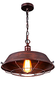 1 Light Industrial Pendant Light Retro Edison Rustic Chandelier Iron Hanging Warehouse Barn Ceiling Pendant Lighting