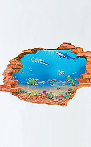 Tiere Landschaft 3D Wand-Sticker Flugzeug-Wand Sticker 3D Wand Sticker Dekorative Wand Sticker,Vinyl Stoff Haus Dekoration Wandtattoo