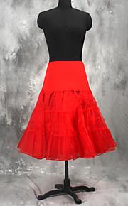 Underklänningar A-linjeformad Underkjol/klänning Balklänning Underkjol Knälång 3 Tyllnät Vit Svart Röd
