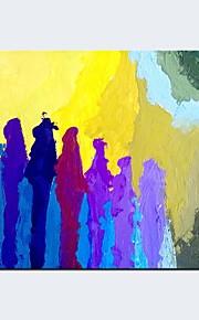 Håndmalte Abstrakt fantasi Horisontal Panorama,Moderne Klassisk Et Panel Lerret Hang malte oljemaleri For Hjem Dekor