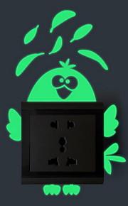 카툰 벽 스티커 루미너스 월 스티커 라이트 Switch 스티커,비닐 자료 홈 장식 벽 데칼