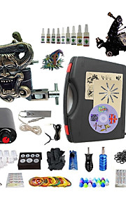 Complete Tattoo Kit S023G2A2Z6 2 Machines Liner & Shader Mini Power Supply Ink Cups