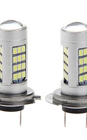 2pcs portato nebbia 10W H7 lampadine lampada auto luce 6000k nebbia 2.835 testa auto 42smd DC12-24V