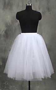 Underklänningar A-linjeformad Underkjol/klänning Balklänning Underkjol Knälång 4 Tyllnät Vit Svart Röd