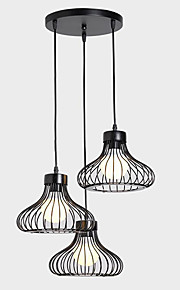 Max60*3 Pendant Light   Rustic/Lodge Vintage Retro Painting Feature for Designers MetalLiving Room Dining Room Kitchen Study Room/Office