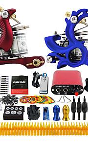 Solong Tattoo Complete Tattoo Kit 2 Pro Machine Power Supply Foot Pedal  TK226