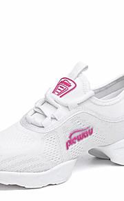 Zapatos de baile(Negro Blanco Fucsia) -Zapatillas de Baile-No Personalizables-Tacón Bajo