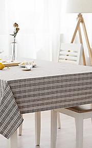 Vierkant Gestreept Katoenen stof Tafellakens , Mengvezel Linnen en Katoen Materiaal Tabel Dceoration 1/set