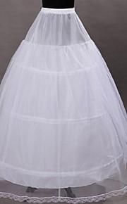 תחתונית  A- קו תחתוניות סליפ שמלת נשף אורךTea 1 רשתות בד טול פוליאסטר לבן