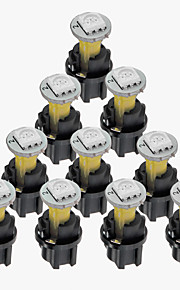 10 sæt dc 12v 0,2 W t5 førte 5050smd instrumentpanelet streg pære gul indehaver