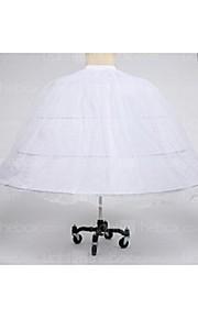 תחתונית  סליפ שמלת נשף אורךTea 1 רשתות בד טול טפטה פוליאסטר לבן שחור אדום
