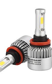 H11 LED Headlights LED Headlight Bulbs with 2 Pcs of Conversion Kits 36W 3600LM Bridgelux COB Chips Fog Light