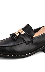 Homme-Mariage Bureau & Travail Soirée & Evénement Décontracté-Noir Rouge Foncé-Talon Bas-Creepers Confort Chaussures formelles-Chaussures