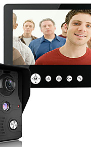 mountainone 9 tommer video dørtelefon dørklokken intercom kit 1-kamera 1-monitor nattesyn